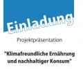 Projektpräsentation klimafreundliche Ernährung und nachhaltiger Konsum