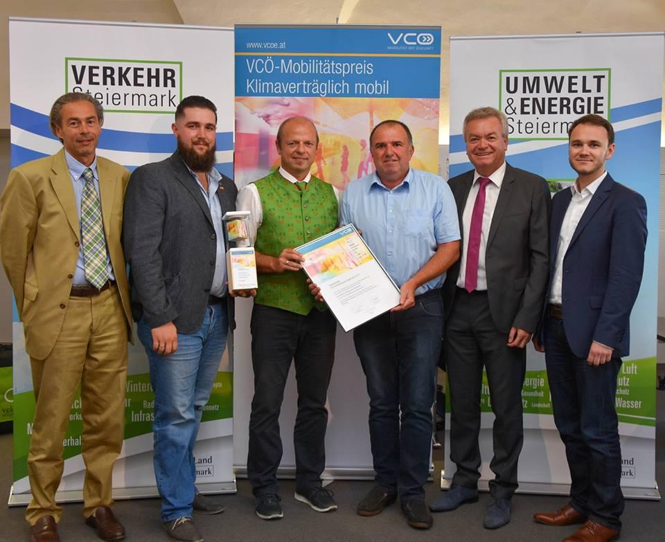 """VCÖ Mobilitätspreis für """"eautoteilen im Steirischen Vulkanland"""""""