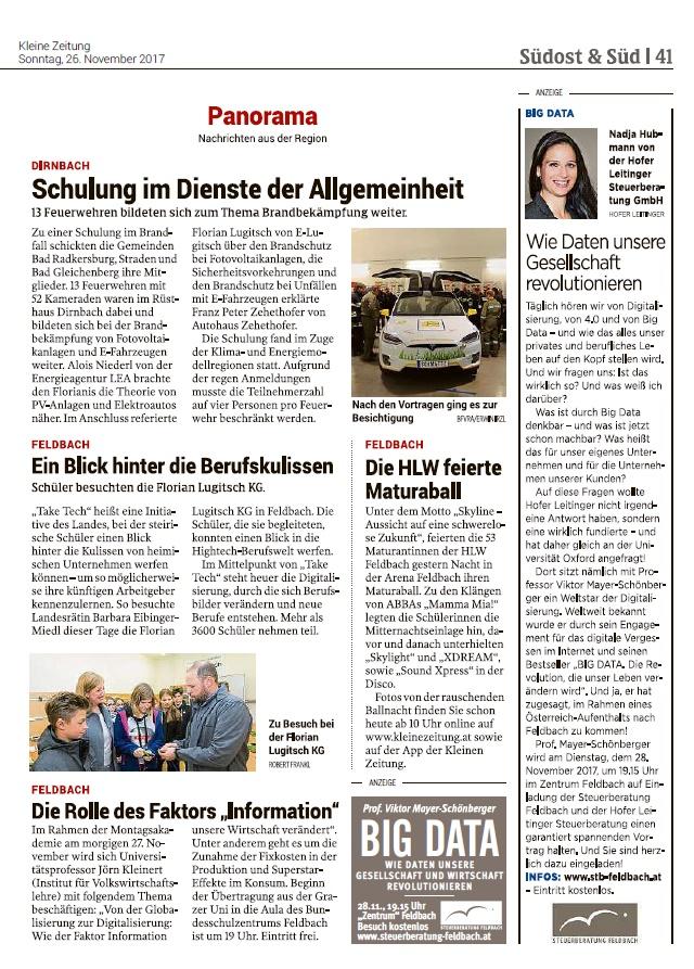 Schulung Im Dienst Der Allgemeinheit 26112017 Kleine Zeitung