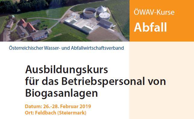 Biogas-Ausbildung startet im Februar 2019