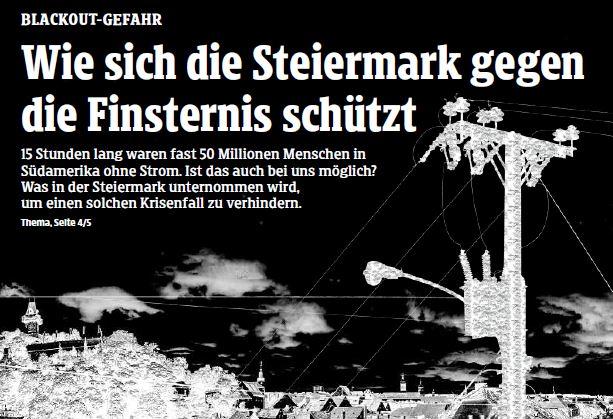 Wenn plötzlich die Dunkelheit regiert, Kleine Zeitung, 18.6.2019