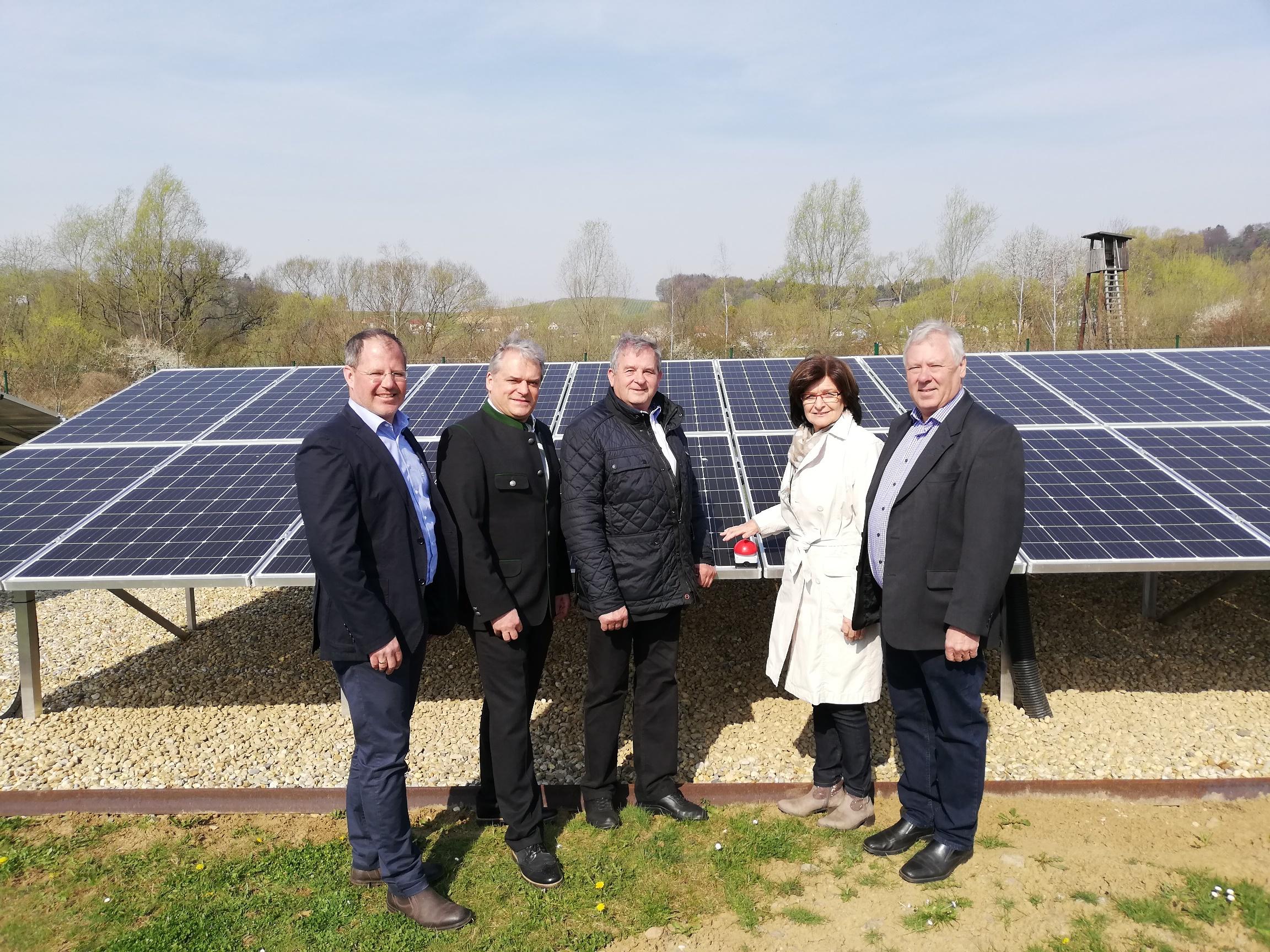 Eröffnung der PV-Anlage der Kläranlage Bad Gleichenberg am 3.April 2019
