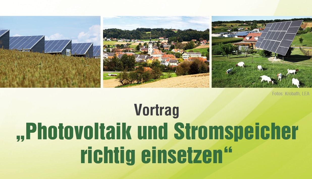 Photovoltaik und Stromspeicher richtig einsetzen am 4. November 2019
