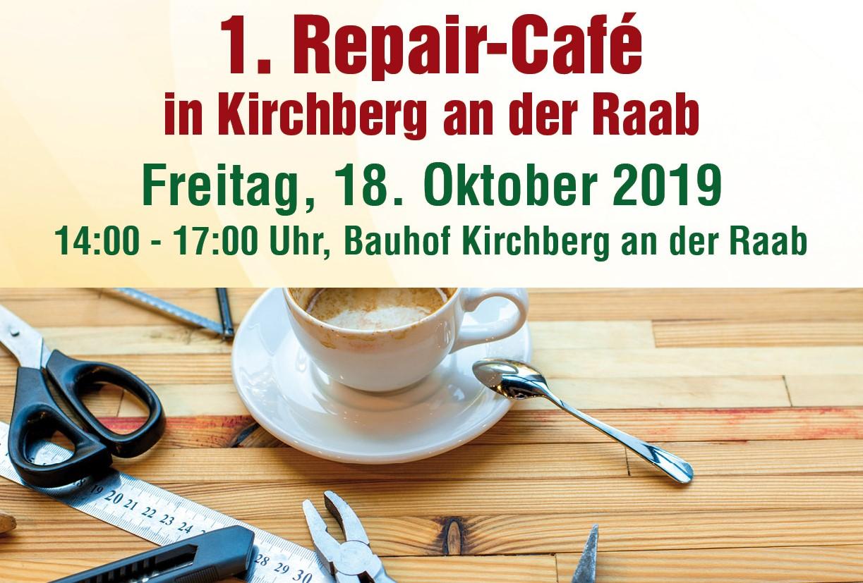 1. Repair-Café in Kirchberg an der Raab am 18. Oktober 2019