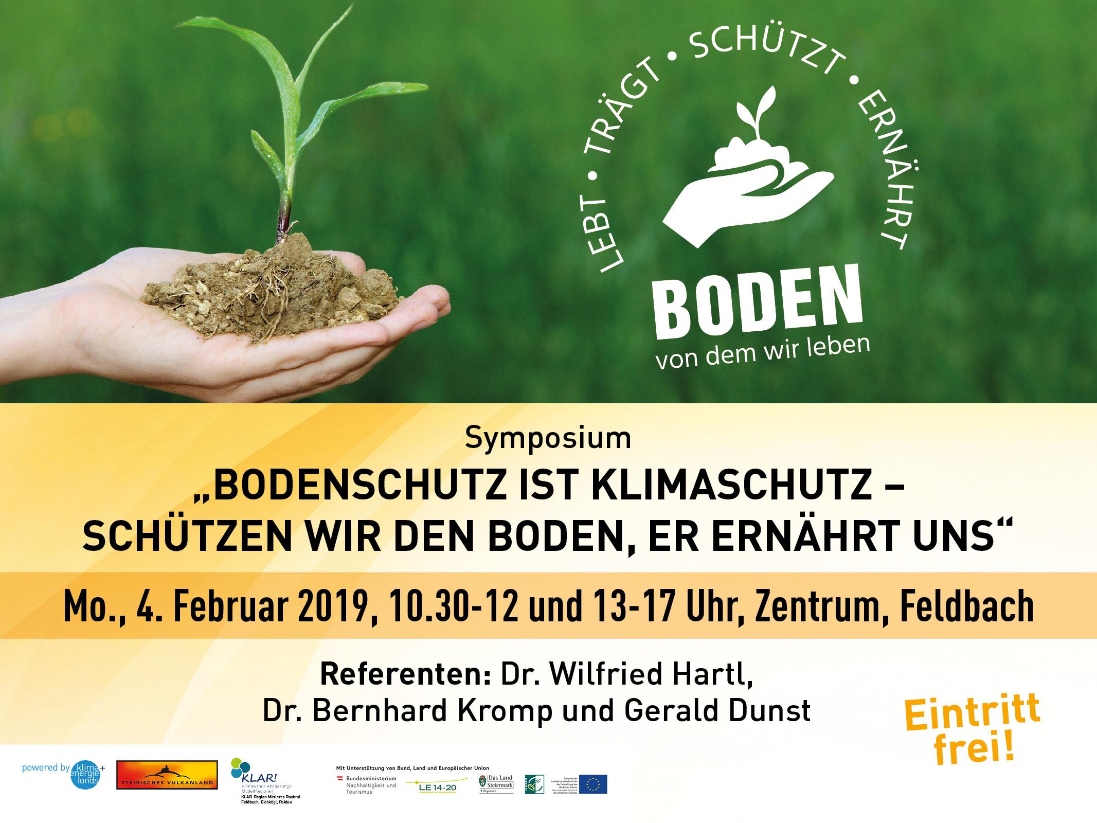 Bodenschutz ist Klimaschutz, 4. Februar 2019, Zentrum Feldbach