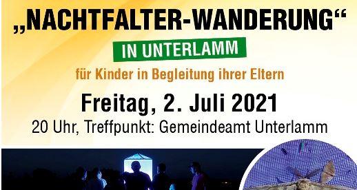 Nachtfalterwanderung in Unterlamm, 02. Juli 2021