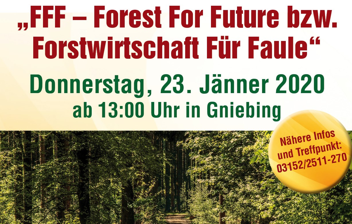 FFF – Forest For Future in Gniebing, 23.01.2020