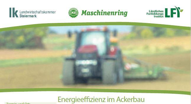 Energieeffizienz im Ackerbau am 22. März 2019 in Hofstätten
