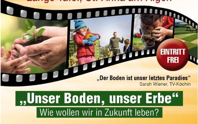 "Sommerkino ""Unser Boden, unser Erbe,"" 27. August 2021, St. Anna"