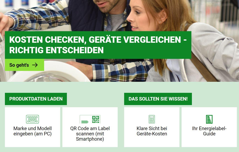 """Mit der """"Effizienz Check"""" App Produkte vergleichen"""