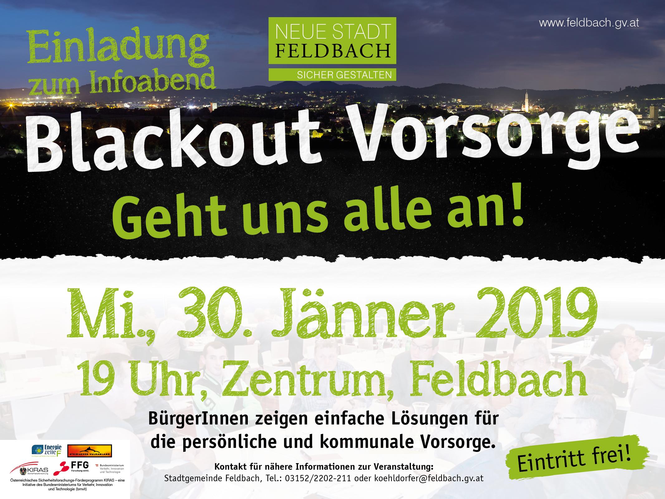 Blackout Vorsorge am 30. Jänner 2019 in Feldbach