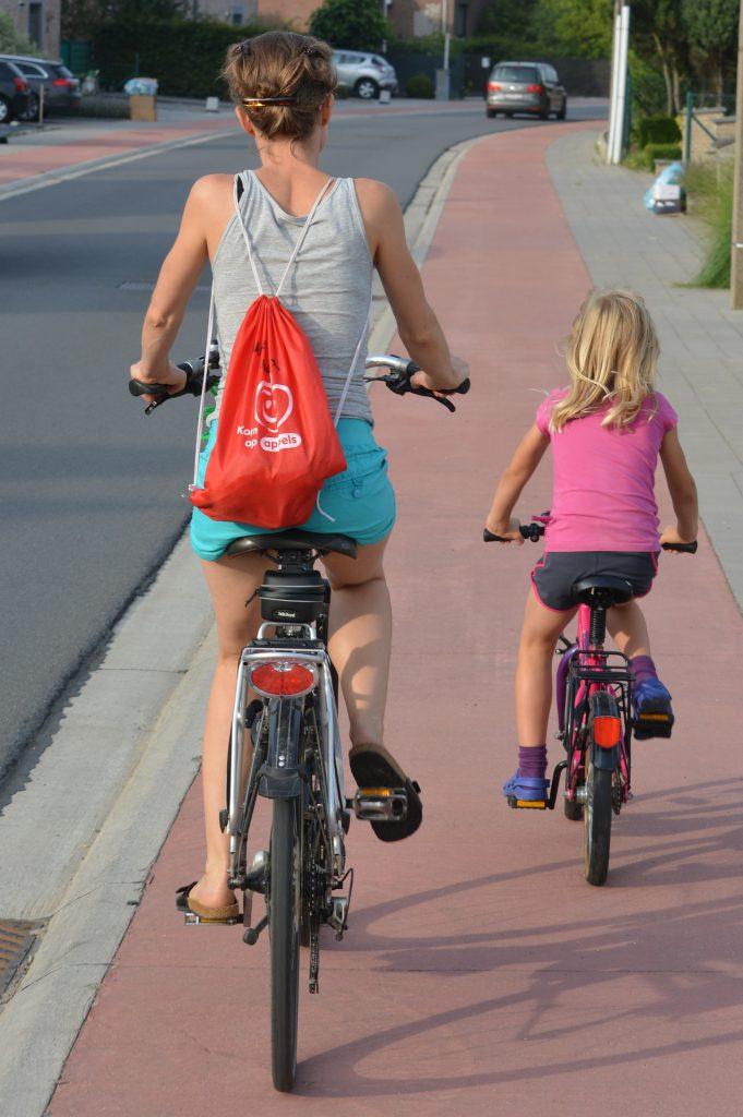 Radfahren mit Kinder