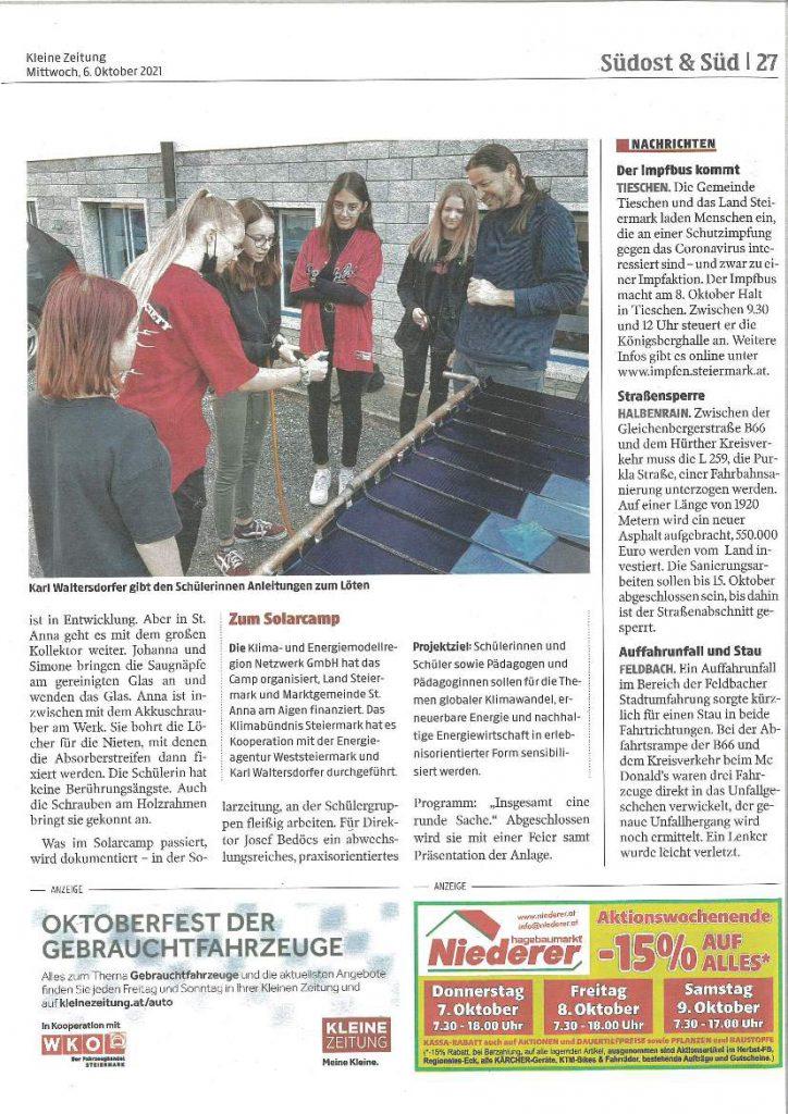 Bau Solaranlage