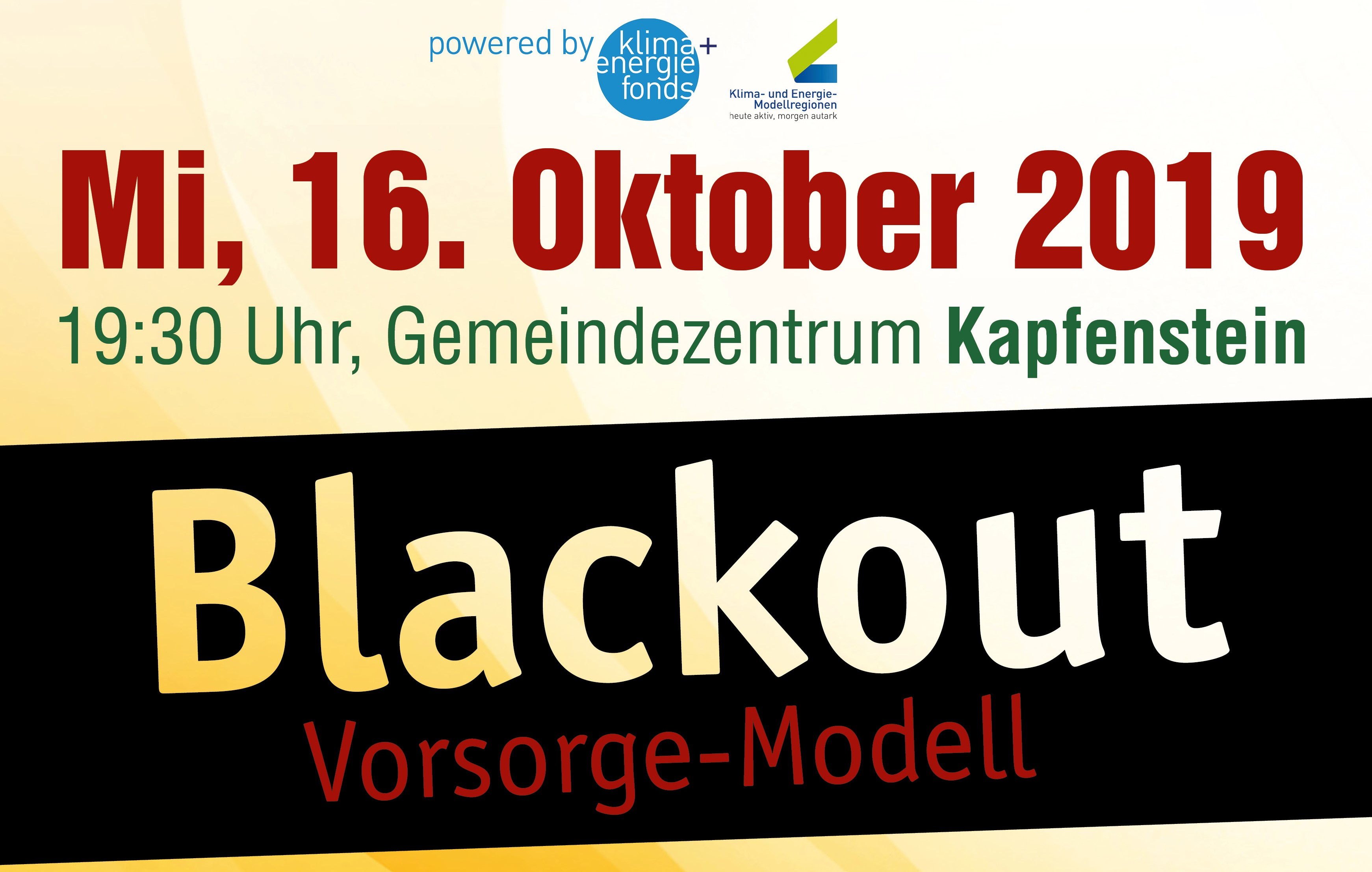 Blackout-Info-Veranstaltung in Kapfenstein, 16.10.2019