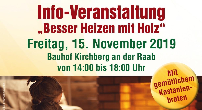 """""""Besser Heizen mit Holz"""", Kirchberg an der Raab, 15.11.2019"""