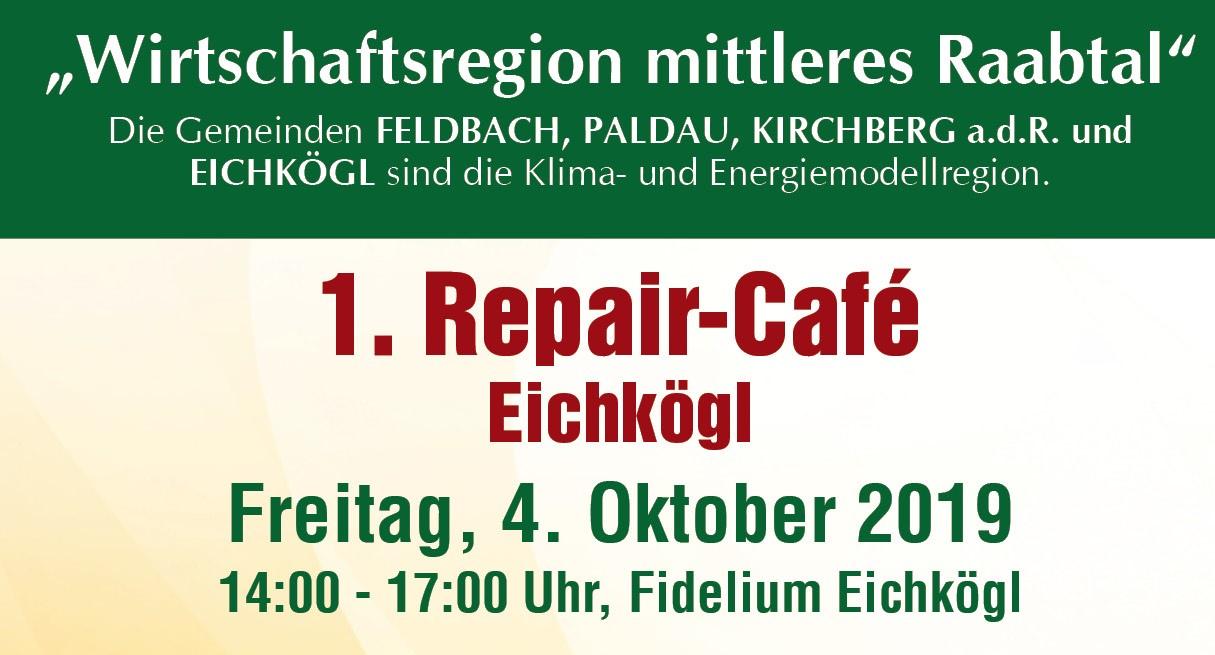 1. Repair-Café in Eichkögl am 4. Oktober 2019