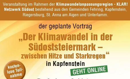 Der Klimawandel in der Südoststeiermark – Zwischen Hitze und Starkregen, 17.06.2021
